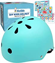 Simply Kids Bike Helmet with DIY Stickers for Toddler Boys Girls I CPSC & CE Certified for Skateboard Roll