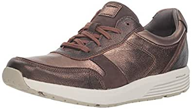ROCKPORT Women's Trustride Ubal Sneaker, Metallic Leather, 5 M US