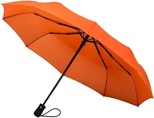 Crown Coast Umbrella Windproof To 60 MPH - Compact Umbrella Colors Purple Yellow Gray Black Umbrellas