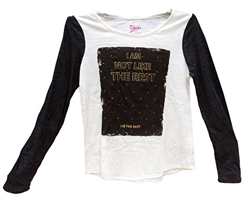 Epic Threads Girls' Graphic-Print Long-Sleeve T-Shirt Holiday Ivory -