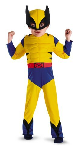 Disguise Marvel Wolverine Toddler Muscle Costume, Small/4-6]()