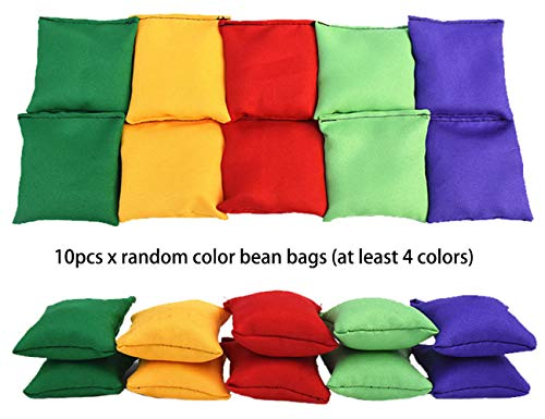 Eocolz 3 in 1 Carnival Games Set, Soft Plastic Cones Bean Bags Ring Toss Games for Kids Birthday Party Outdoor Games Supplies 26 Piece Combo Set by Eocolz (Image #6)