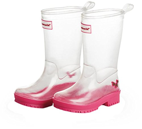 Wellie Wishers Girls Boots Rainboots American Girl Peek A Boo Wellies SIZE 10/11