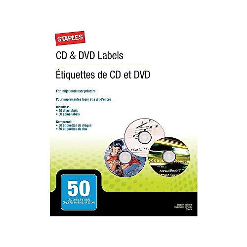 STAPLES 501798 Laser/Inkjet Media Labels White 50/Pack (33013-Cc)