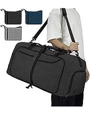 NEWHEY Bolsa de Viaje 65L Plegable Ligera Bolsa Deporte Hombre Impermeable Bolsa Fin de Semana con Compartimento Zapatos para Mujeres