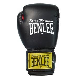BENLEE 1100/194006 Rocky Marciano  Leder Boxhandschuh Fighter, Schwarz/ Rot...