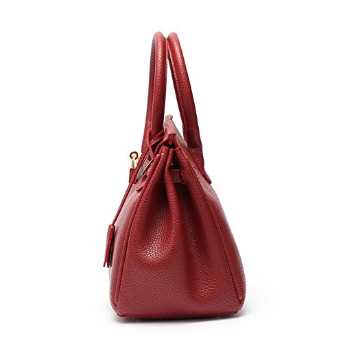 cruzados Bolsas Tachonado VogueZone009 Mujeres CCAYBP180689 Bolsos Pu hombro Rojo Moda de Casual zwH7xpCq