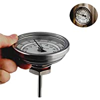OneBom Dial Thermometer 1/2 NPT Stainless Steel Beer Homebrew with 0-220ºF & -10-100ºC Dual Scale