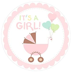 Its A Girl Baby Shower Edible Cupcake Toppers Decoration