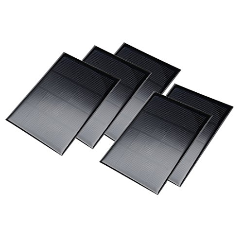 uxcell 5Pcs 5V 300mA Poly Mini Solar Cell Panel Module DIY for Phone Light Toys Charger 104mm x 140mm by uxcell
