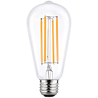 LETO ST64 Vintage LED Edison Bulbs Filament Light Bulb Dimmable ...:LETO ST64 Vintage LED Edison Bulbs Filament Light Bulb Dimmable [edison  style][Energy Saving 4W LED- 40W Equivalent ][UL Listed][2200K Warm]E26  Based [led ...,Lighting