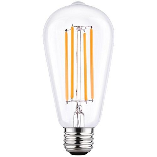 leto st64 vintage led edison bulbs filament light bulb dimmable edison styleenergy saving 4w led 40w equivalent ul listed2200k warme26 based led
