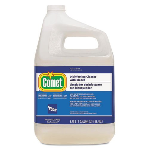 Comet Disinfecting Cleanser - Comet Disinfecting Cleaner w/Bleach, 128 oz Bottle - Includes three 128-oz bottles.