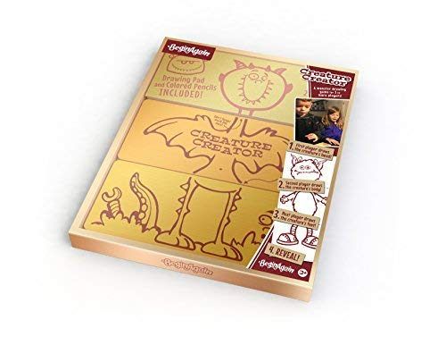 BeginAgain - Creature Creator Collaborative Drawing Game, Help Promote Creative Thinking and Fine Motor Skills, for 2 or More Players (for Kids 3 and Up) [並行輸入品] B07SFFH2M9