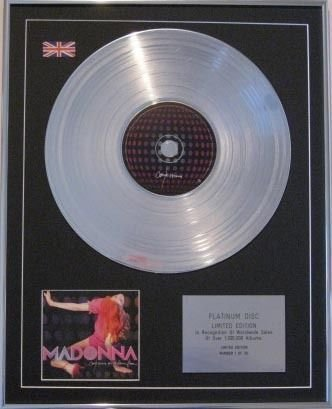 MADONNA Limited Edition CD Platinum Disc -CONFESSIONS ON A DANCE FLOOR
