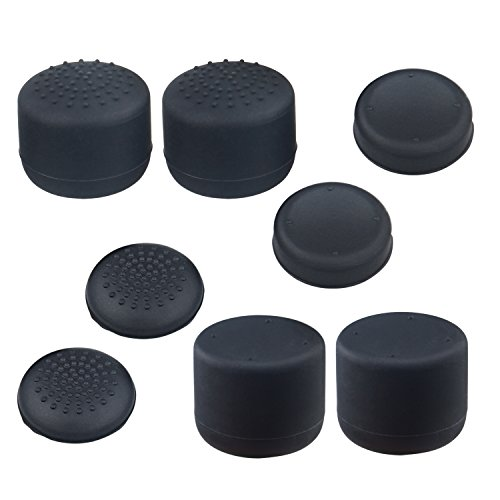 [4 Sets]Joystick Thumb Stick Key Caps for Sony PlayStation, Hapurs Anti-skip Silicone Replacement Joy Stick Controller Shell Cover Protector for PlayStation 3, PS4 and Xbox 360