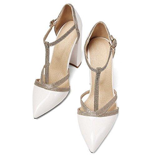 Bout Femmes Escarpins Taoffen Salom¨¦ White Pointue Chaussures X4Eqqwf