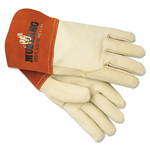 MPG4950L - Mustang MIG/TIG Leather Welding Gloves by Memphis (Image #1)