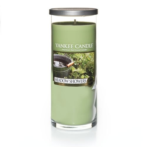 Yankee Candle Meadow Showers Large Perfect Pillar Candle, - Large Pillar Candles Scented