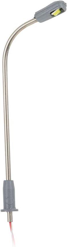 Festnight 10 St/ücke Skala Laternenpfahl Modell Metallstra/ßen Lampe Modellbau einkopf Led-leuchten Modell Spielzeug Stil 2