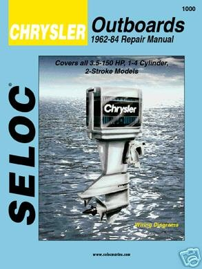 CHRYSLER OUTBOARDS 1962-1984, 3.5-150 HP Engine Repair Manual (Boat Engine 150 Hp)