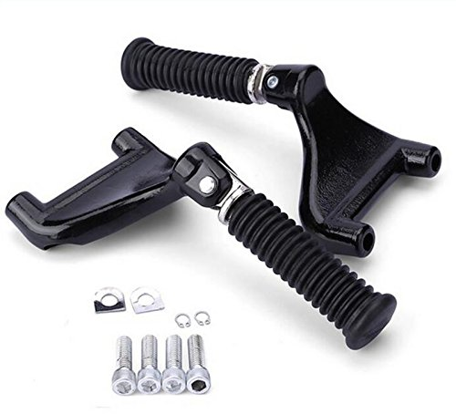 Passenger Rear Foot Pegs Footpegs Mount Kit Black For Harley Sportster XL Models IRON 883 48 72 2004-2013 (1 Pair) (Peg Kit Passenger)