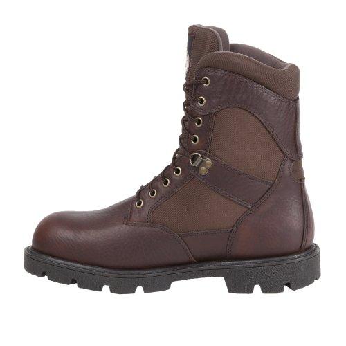 Georgia Mens 8 Homeland Steel Toe Lavoro Impermeabile Boot-g107