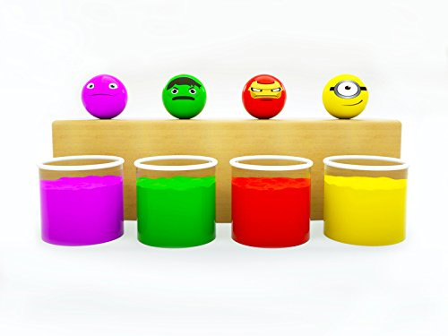 Learn colors with funny balls