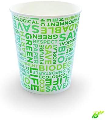 Vaso de cartón biodegradable, texto orgánico 250 a 350 ml, SDG ...