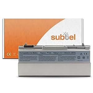 subtel® Batería premium (8800mAh) para Dell Latitude E6400 / E6400 ATG / E6410 / E6500 / E6510 / Precision M2400 / M4400 PT434 bateria de repuesto, pila reemplazo, sustitución