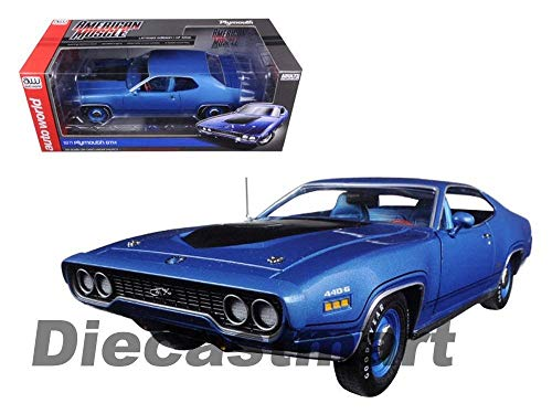 (1971 Plymouth GTX Hard TOP Metallic Blue 1002PC 1:18 AMM1065 Model)