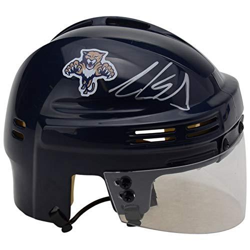 - Aaron Ekblad Florida Panthers FAN Autographed Signed Blue Mini Helmet - Certified Signature