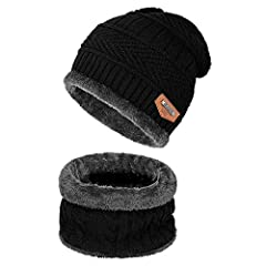 THICK SOFT WARM Beanie Hat & Scarf set from Shadow Domain. This is the wonderful thick and chunky knit acrylic wonder that will shield you from the coldest winter winds. Has a soft fleece inner lining that feels wonderful on skin. Pull th...