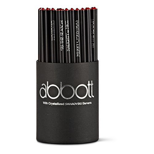 Abbott Collection 27-TAKEANOTE/01 Red Gem Holiday Pencils by Abbott Collection