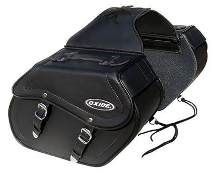 Oxide Bolsa Maleta para Moto, Color Negro, (2 alforjas), 1 ...