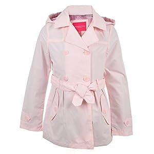 London Fog Big Girls' Hooded Raincoat - Pink, 7-8