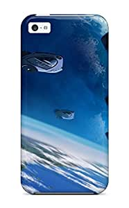 Hot Design Premium DHRCXyj58igyGD Tpu Case Cover Iphone 5c Protection Case(spaceships )