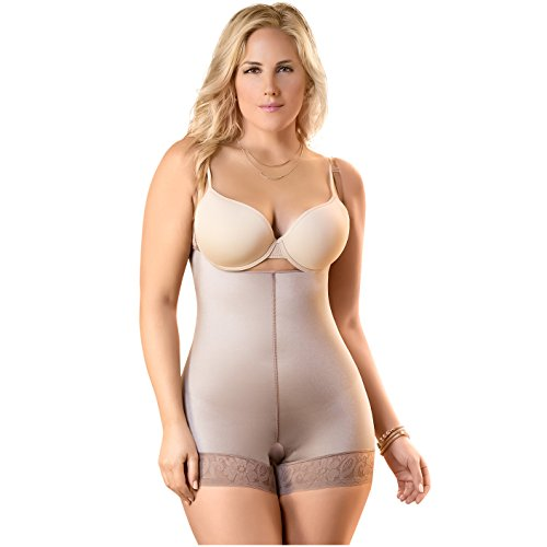 Fajas Colombianas Dprada Invisible Body Shaper Hip-hugging Compression Garment,M (Fits 34-35 Inch Waist),Cocoa-optic