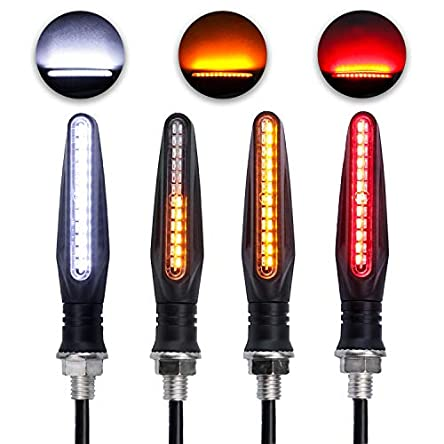 LivTee Super Bright 4PCS Motorcycle Indicators Flowing...