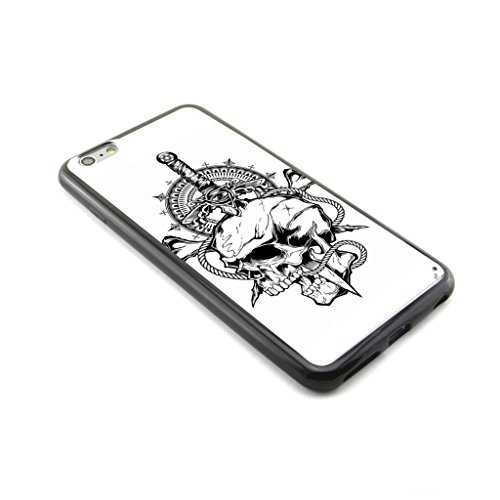 """CaseCityLiu - Evil Eye on the Knife Skull Pattern Design Plastic+TPU Case Cover for Apple iPhone 6 Plus 6th 6Generation 5.5"""" inch"""