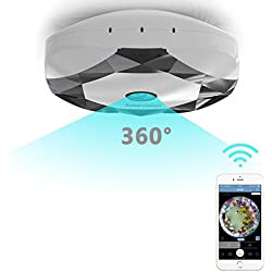 Antaivision 960P HD WiFi IP Security Network Dome Camera For Home Surveillance, Fisheye 360° Indoor Dome With Night Vision Motion Detection 2-Way talking (white)