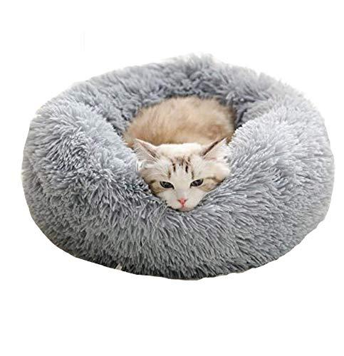 Cozywind rundes Haustierbett für mittelgroßen Hund und EIN Paar Katzen Hellbraun Warmes Kissen oder deluxes Bett mit…