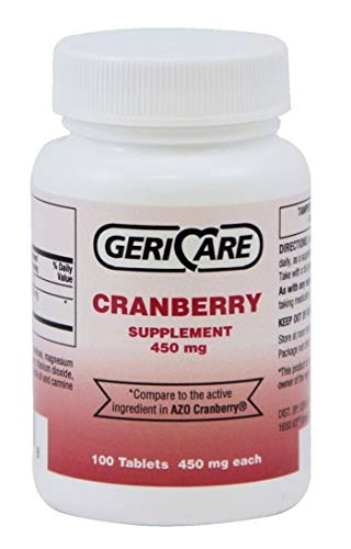 Geri Care Cranberry Pills 450MG 100 count ( Helps you Fight off Urinary Tract Infections)