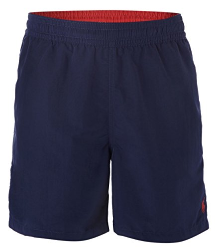 Polo by Ralph Lauren Mens Swim Trunks Navy with Yellow Pony, - Polo Navy Ralph Lauren