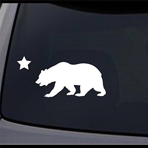 Ni126 California Republic Cali State Cali Bear Vinyl Decal Sticker   6  X 2 75    Premium Quality Vinyl Decal