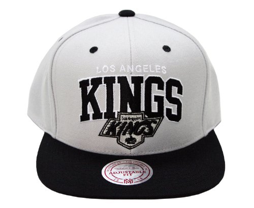 Los Angeles Kings Mitchell & Ness Silver Arch Snapback Adjustable Hat