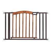 Summer Infant Decorative Wood & Metal 5 Foot Pressure Mounted Gate, Brown/Bla...