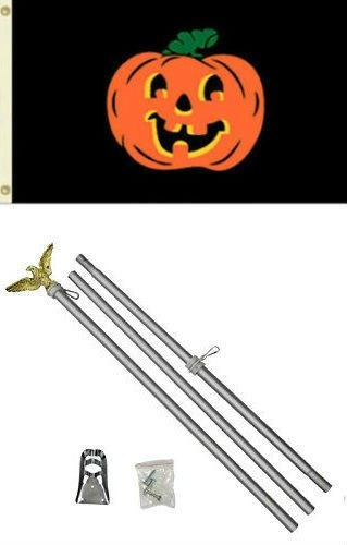 New They can be used indoors or outdoors.3x5 Happy Halloween Pumpkin Black Flag Aluminum Pole Kit Set 3'x5'.The authentic design is based on information from official (Customs For Halloween In Miami)
