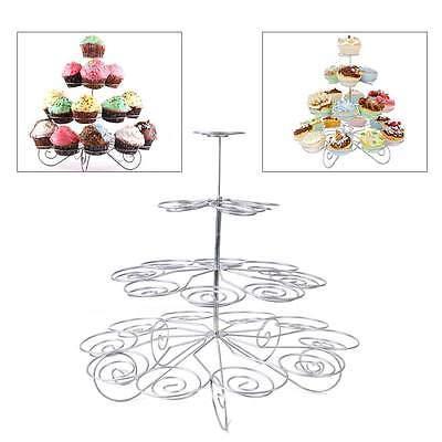4 Tier 23 Cupcake Cake Dessert Stand Holder Display Metal Wedding Birthday Party
