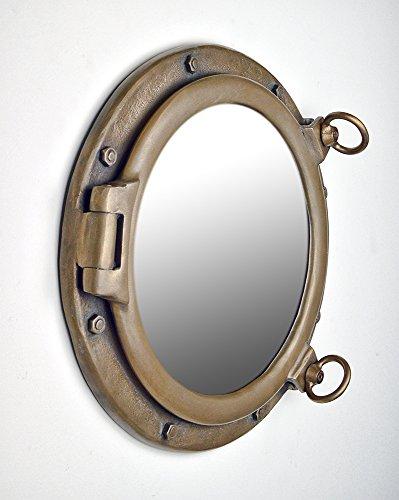 20'' Bronze Finish Wall Mount Porthole Mirror by Nautical Tropical Imports (Image #1)